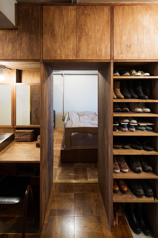 architecturephoto.net吉田裕一建築設計事務所による、東京都のマンション1室のリノベーション「学芸大学・ROOM・S」