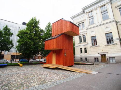 architecturephoto.netアアルト大学の2016年Wood Programプロジェクトで作られた「Kokoon」