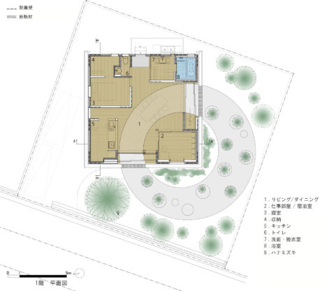 12-1_hiroshima-House_in_Mukainada_Plan_1F_JPN